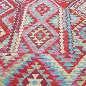 Rug# 25576, Superfine Afghan flatweave Kilim, modern design, veg dyes, size 237x173 cm, RRP $1200, on special $480 (5)