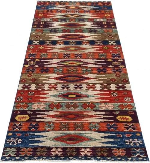 Rug-25699-Afghan-Turkaman-weave-pile-galleria-rug-antique-Turkish-design-vegetable-dyes-size-292x124-cm-2-scaled