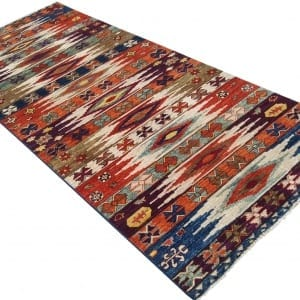 Rug-25699-Afghan-Turkaman-weave-pile-galleria-rug-antique-Turkish-design-vegetable-dyes-size-292x124-cm-3-scaled