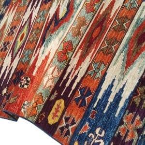 Rug-25699-Afghan-Turkaman-weave-pile-galleria-rug-antique-Turkish-design-vegetable-dyes-size-292x124-cm-scaled