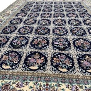 Lot# 25, Superfine Isfehan, c.1975, Qajar design , signed Davari Master weaver, silk base & inlay, Persia, size 300x204 cm (5)