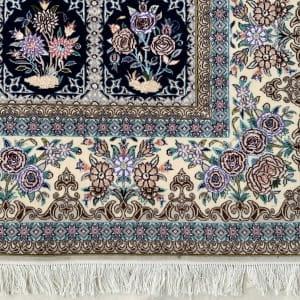 Lot# 25, Superfine Isfehan, c.1975, Qajar design , signed Davari Master weaver, silk base & inlay, Persia, size 300x204 cm (6)
