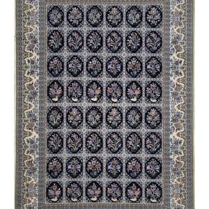 Lot# 25, Superfine Isfehan, c.1975, Qajar design , signed Davari Master weaver, silk base & inlay, Persia, size 300x204 cm (7)