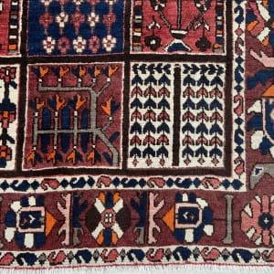 Lot# 29, Chaleh-Shotor Bakhtiar Kheshti or compartmentgarden design, rare, circa 1950, Persia, size 300x200 cm (5)
