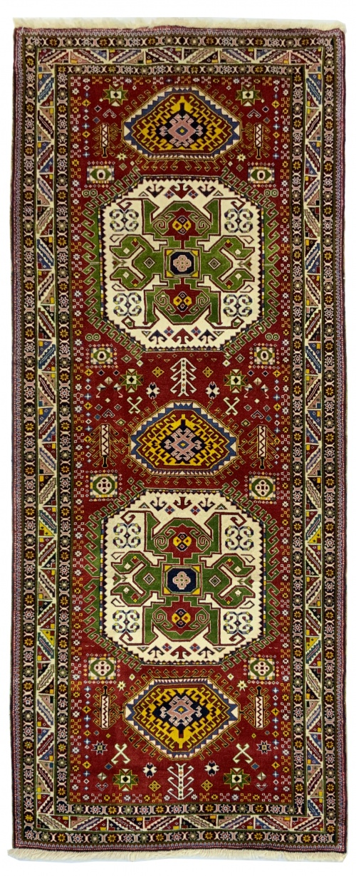 Lot# 45, Aliabad Qashqai, c. 1990, immaculate condition, full vegetaable dyes, all wool, cottage weave, South-West Persia, size 311x128 cm