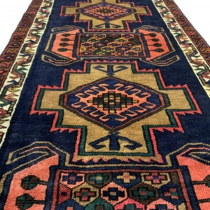 Lot# 49, Luri , c. 1950, immaculate condition, cottage weave, Olad clan, West Persia, size 370x106 cm (2)