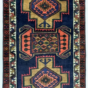 Lot# 49, Luri , c. 1950, immaculate condition, cottage weave, Olad clan, West Persia, size 370x106 cm (3)