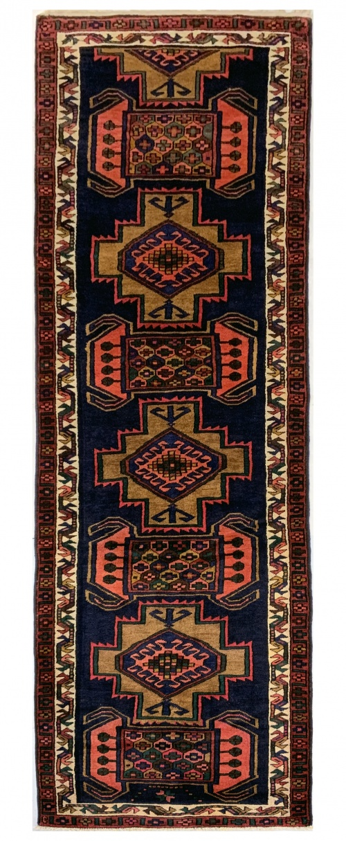 Lot# 49, Luri , c. 1950, immaculate condition, cottage weave, Olad clan, West Persia, size 370x106 cm