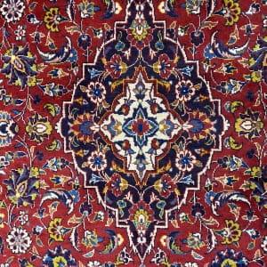 Lot# 61, old Kashan, c.1960, Kork wool pile, grade 2 quality, Persia, size 222x139 cm (3)