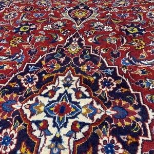 Lot# 61, old Kashan, c.1960, Kork wool pile, grade 2 quality, Persia, size 222x139 cm (5)