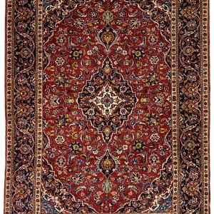 Rug# 10280, old Kashan, c.1960, Kork wool pile, grade 2 quality, Persia, size 222x139 cm (2)