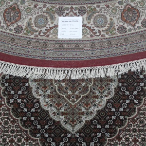 Rug# 31060, Superfine Amritsar in Tabriz mahi dsn, NZ wool pile, silk inly, India, size 247x247 cm, RRP $6700, on special $3000 (3)