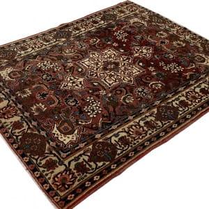 Rug# 7222A, antique Mobarakeh Isfehan, circa 1920, rare, restored, natural dyes, Persia, size 196x143 cm (3)