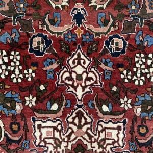 Rug# 7222A, antique Mobarakeh Isfehan, circa 1920, rare, restored, natural dyes, Persia, size 196x143 cm (4)