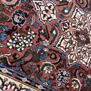 Rug# 7222A, antique Mobarakeh Isfehan, circa 1920, rare, restored, natural dyes, Persia, size 196x143 cm (5)