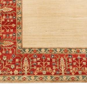 Rug# 26284, Afghan Turkaman,19th c Zigler inspired, Size 238x164 cm (4)