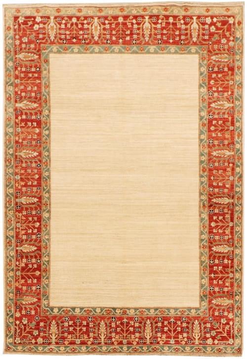 Rug# 26284, Afghan Turkaman,19th c Zigler inspired, Size 238x164 cm
