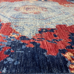 Rug# 26285, Afghan Turkaman,Transitional Mamluk, Veg dyes, Size 288x196 cm (4)