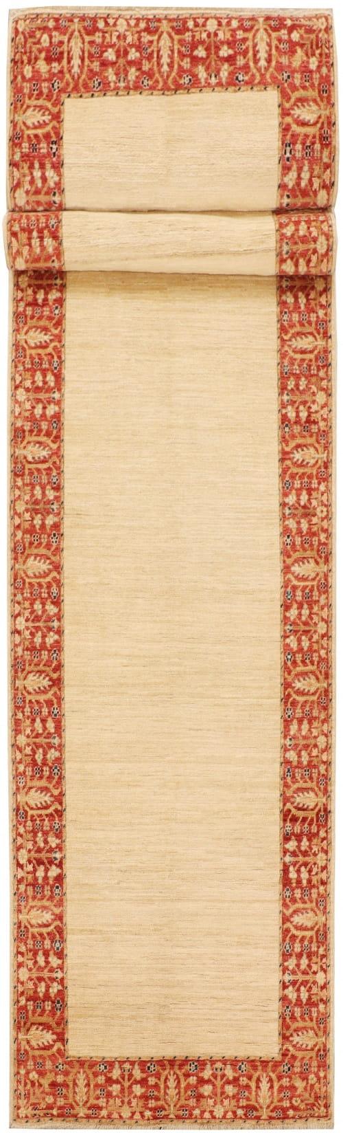 Rug# 26287, Afghan Turkaman,19th c Zigler inspired, Size 385x91 cm (5)