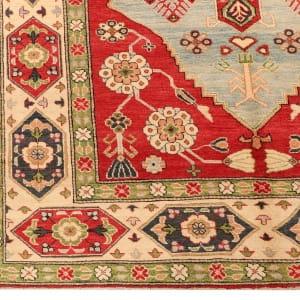 Rug# 26301, Afghan Turkaman,19th c Kazak inspired, Size 264x186 cm (2)