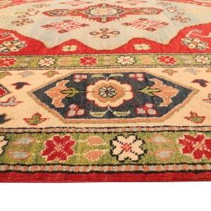 Rug# 26301, Afghan Turkaman,19th c Kazak inspired, Size 264x186 cm (3)