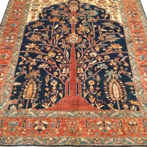 Rug# 26313, Afghan Turkakan weave, 19th c Caucasian Tree Of Life design, Veg dyes, Size 234x186 cm