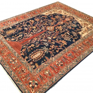 Rug# 26313, Afghan Turkakan weave, 19th c Caucasian Tree Of Life design, Veg dyes, Size 234x186 cm (4)