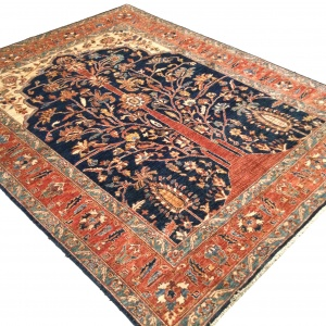 Rug# 26313, Afghan Turkakan weave, 19th c Caucasian Tree Of Life design, Veg dyes, Size 234x186 cm (5)