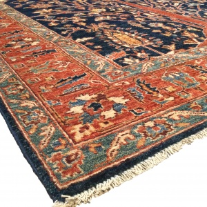 Rug# 26313, Afghan Turkakan weave, 19th c Caucasian Tree Of Life design, Veg dyes, Size 234x186 cm (6)