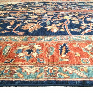 Rug# 26313, Afghan Turkakan weave, 19th c Caucasian Tree Of Life design, Veg dyes, Size 234x186 cm (7)
