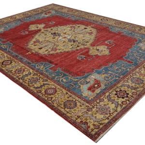 Rug# 26323, AfghanTurkaman weave, 19th c Bakhshaiesh Heriz inspired, Veg dyes, Size 364x272 cm, RRP $12000 (3)