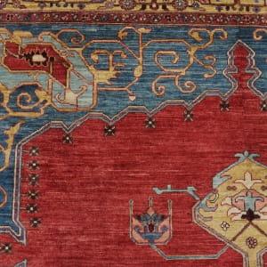 Rug# 26323, AfghanTurkaman weave, 19th c Bakhshaiesh Heriz inspired, Veg dyes, Size 364x272 cm, RRP $12000 (4)