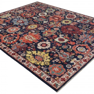 Rug# 26324, AfghanTurkaman weave, 19th c Caucasian Shirvan inspired, Veg dyes, Size 300x242 cm, RRP $9000 (3)