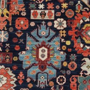Rug# 26324, AfghanTurkaman weave, 19th c Caucasian Shirvan inspired, Veg dyes, Size 300x242 cm, RRP $9000 (4)