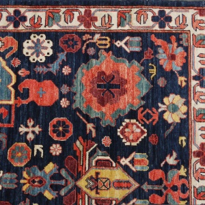 Rug# 26324, AfghanTurkaman weave, 19th c Caucasian Shirvan inspired, Veg dyes, Size 300x242 cm, RRP $9000 (5)