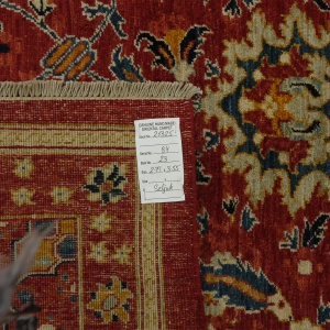 Rug# 26325, AfghanTurkaman weave, 19th c Sultanabad Mahal inspired, Veg dyes, Size 371x255 cm, RRP $12000 (2)