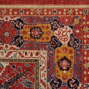 Rug# 26325, AfghanTurkaman weave, 19th c Sultanabad Mahal inspired, Veg dyes, Size 371x255 cm, RRP $12000 (3)