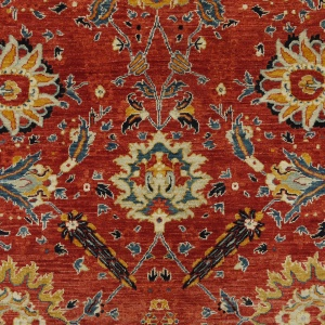 Rug# 26325, AfghanTurkaman weave, 19th c Sultanabad Mahal inspired, Veg dyes, Size 371x255 cm, RRP $12000 (4)