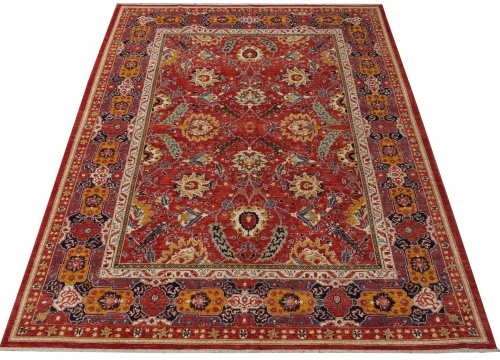 Rug# 26325, AfghanTurkaman weave, 19th c Sultanabad Mahal inspired, Veg dyes, Size 371x255 cm, RRP $12000
