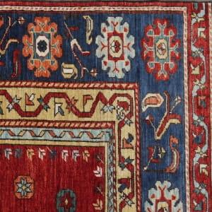 Rug# 26329, AfghanTurkaman weave,17th c Oushak prayer inspired, Veg dyes, Size197x153cm, RRP $4000 (5)