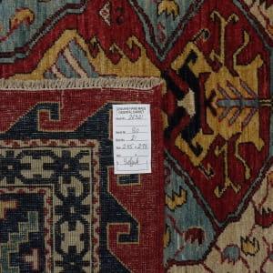Rug# 26331, AfghanTurkaman weave,19th c Caucasian inspired, handspun wool, Veg dyes, Size 293x245 cm, RRP $8000