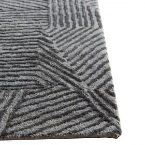 Rug# 31180, Jaipur designer rug, Abstract modern with 100% Hand spun NZ wool pile size 300x250 cm ESK-1505NickelBlack Olive (3)
