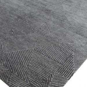 Rug# 31180, Jaipur designer rug, Abstract modern with 100% Hand spun NZ wool pile size 300x250 cm ESK-1505NickelBlack Olive (4)