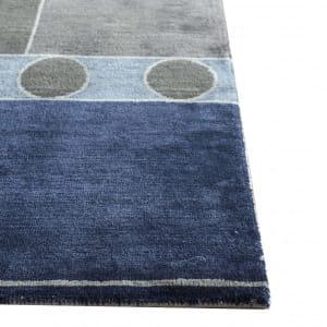 Rug# 31183, Jaipur modern, ABC designer rug, 100% NZ wool and bamboo silk pile, size 300x250 cm ESK-315Antique WhiteMedieval Blue (2)