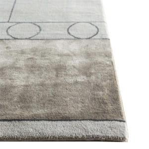 Rug# 31184, Jaipur modern, ABC designer rug, 100% NZ wool and bamboo silk pile, size 250x170 cmESK-315Classic GrayNatural Beige (2)