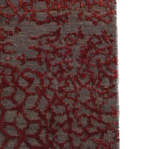 Rug# 31188, Jaipur designer rug, Abstract modern with 100% Hand spun NZ wool pile,size 360x270 cm ESK-603Dark GrayRed Lacquer (7)