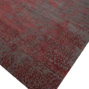 Rug# 31188, Jaipur designer rug, Abstract modern with 100% Hand spun NZ wool pile,size 360x270 cm ESK-603Dark GrayRed Lacquer (8)
