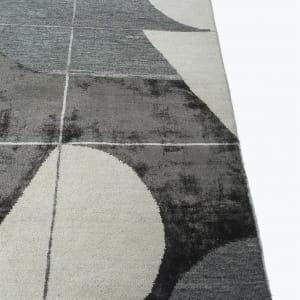 Rug# 31192, Jaipur modern, ABC designer rug, 100% NZ wool and bamboo silk pile, size 300x200 cm ESKN-1001WhiteNatural Slate (3)