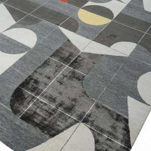 Rug# 31192, Jaipur modern, ABC designer rug, 100% NZ wool and bamboo silk pile, size 300x200 cm ESKN-1001WhiteNatural Slate (4)