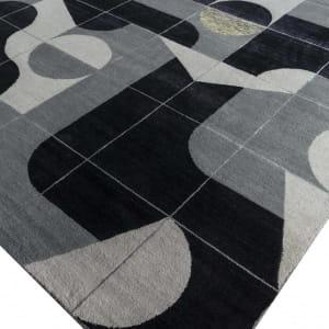 Rug# 31193, Jaipur modern, ABC designer rug, 100% NZ wool and bamboo silk pile, size 300x250 cm ESKN-1002IvoryNatural Slate (4)